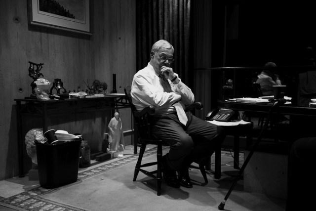 Boston Mayor Thomas Menino sat momentarily in his office after calling mayor-elect Martin Walsh after Walsh won the election.