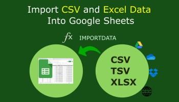 importing CSV into Google Sheets