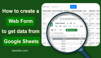 How to create a web form to get data from Google Sheets