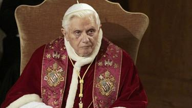Papst Benedikt XVI. | Bild: picture-alliance/dpa