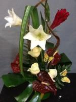 fleuriste la baule, composition de fleurs exotiques