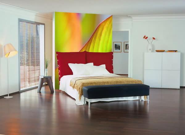 mur imprimé chambre