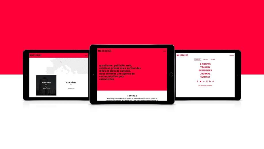 L'agence de communication MARS ROUGE à Neuchâtel est dans la création de sites internet.