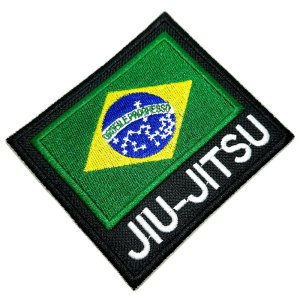 Jiu-Jitsu Bandeira Brasil Patch Bordado Termo Adesivo