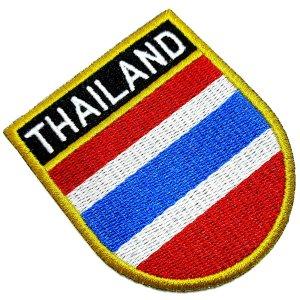 Bandeira país Tailândia Patch Bordada passar a ferro costura