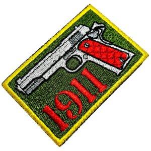 Pistola 1911 Patch Bordado, passar a ferro ou costura