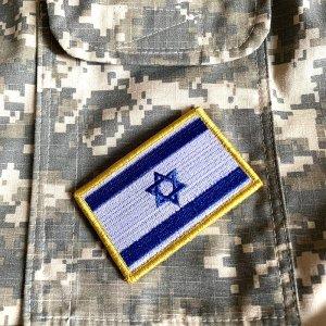 Bandeira Israel Patch Bordada Fecho de Contato Gancho
