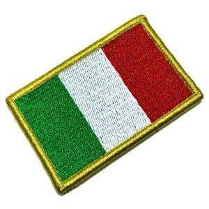 Bandeira Italia Patch Bordada Fecho de Contato Gancho