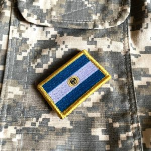 Bandeira Argentina Patch Bordada Fecho de Contato Gancho