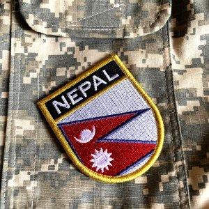 Bandeira Nepal Patch Bordada Fecho Contato Gancho