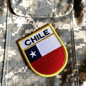 Bandeira Chile Patch Bordada Fecho Contato Gancho