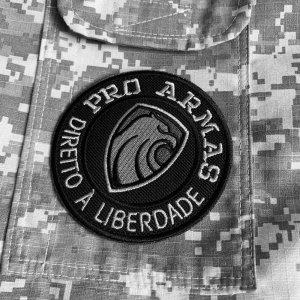 Pró Armas Brasil patch bordado, passar a ferro ou costurar