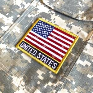 Bandeira EUA Patch Bordada Fecho de Contato Gancho