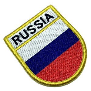 Bandeira Russia Patch Bordada Fecho Contato Gancho