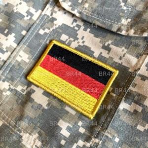 Bandeira Alemanha Patch Bordada Fecho de Contato Gancho