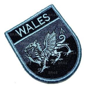 Bandeira País de Gales Patch Bordada Fecho Contato Gancho