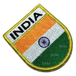 Bandeira Índia Patch Bordada Fecho Contato Gancho