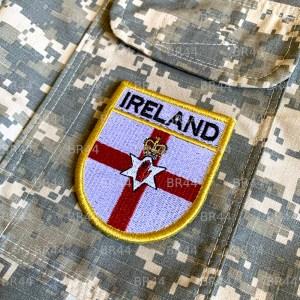 BP0214EV 01 Bandeira Irlanda Patch Bordada Fecho Contato
