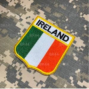 BEIN077 Bandeira Irlanda Patch Bordado Termo Adesivo
