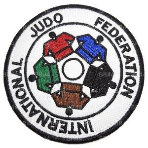 AM0254T 01 Judo Patch Bordado  Fixa Com Ferro Quente Costura