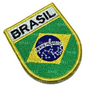 BP0403EV 01 Bandeira Brasil Patch Bordada Fecho Contato