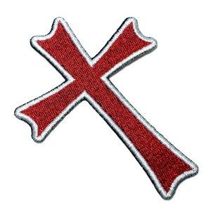 M0051T 01 Cruz Cristo Cavaleiros Bordado Termoadesivo Costura