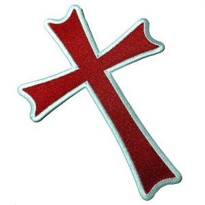 M0051T 41 Cruz Cristo Cavaleiros Bordado Termoadesivo Costura