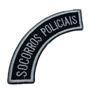 M0119T 02 Socorros policiais Bordado Termo Adesivo Costura