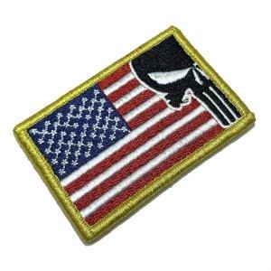 M0138V 01 EUA USA Patch Bordado Fecho de Contato Gancho