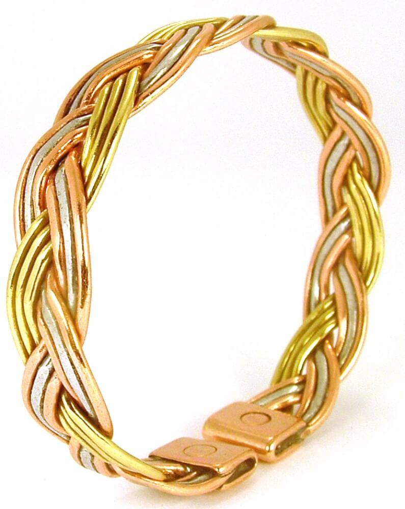 bracelet cuivre magn tique pour femmes en cuivre pur et avec 2 aimants. Black Bedroom Furniture Sets. Home Design Ideas