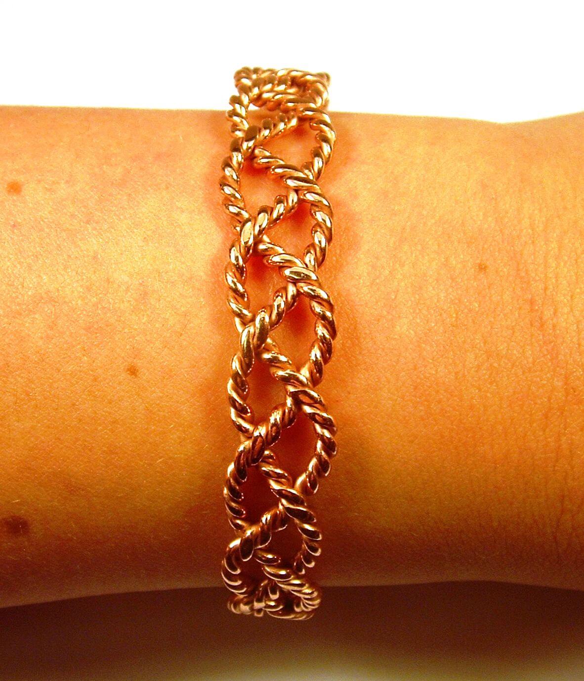 bracelet de cuivre pour les femmes non magn tique pour. Black Bedroom Furniture Sets. Home Design Ideas