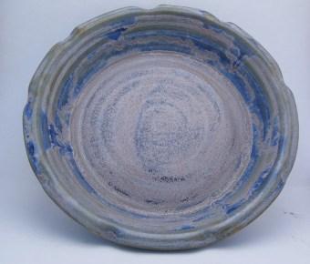 Blue Purple pie plate by Darla Heard