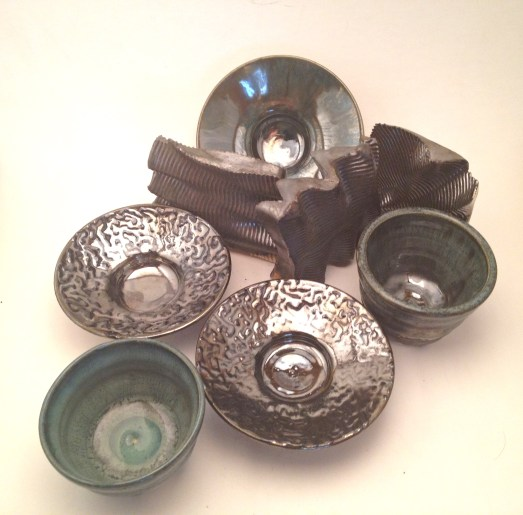 A variety of Palladium in combination with other glazes
