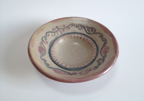 AMACO Semi-Moist Underglaze Watercolors brushed on with winter's day poured over