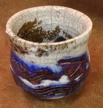 Spectrum Deep Space with Crackle White, reduced in Sawdust