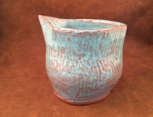 O-20 Bluebell over Flint Hills Earthenware Red Clay
