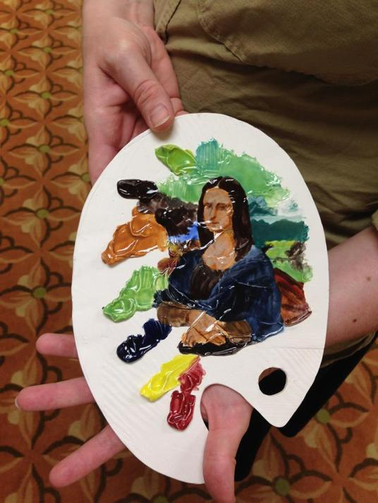 Cara Moczygemba painted Mona Lisa using the TP glazes!