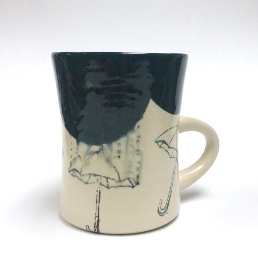"umbrella mug with lithium wash, 4x3.5x5"" 2014"