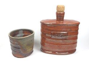 Wood Fired Vodka Flask
