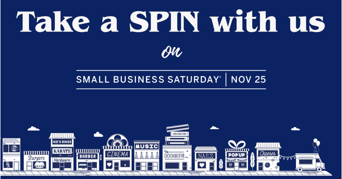 Take a SPIN at Bracker's for Small Business Saturday!