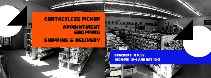 July Hours – contactless pickup, appointments & shipping