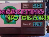 gas station sign under episode title