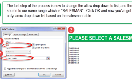 Excel Data Validation List: Building a Dynamic Salesman Dashboard (Part 1)