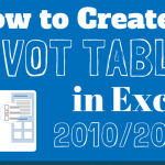 Creating Pivot Tables 101: A How-To InfoGraphic