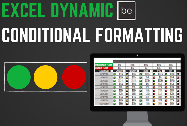 Excel Dynamic Conditional Formatting: Create a User Controlled KPI Dashboard