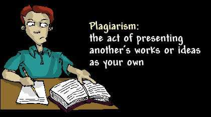 Plagiarism is not just copying someone else's work - it also includes getting someone to do the work for you!