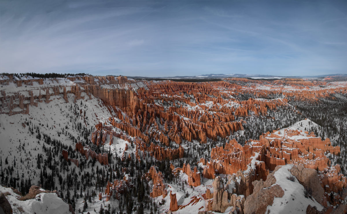 Bryce Canyon in the Winter, with Snow