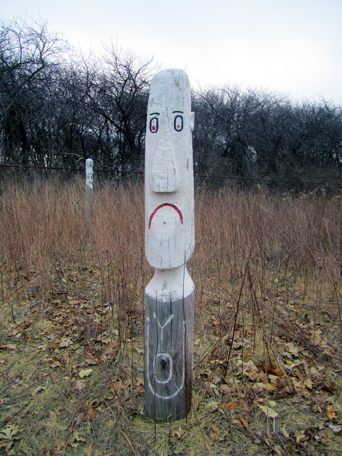 March 27th: Unhappy wood sculpture.