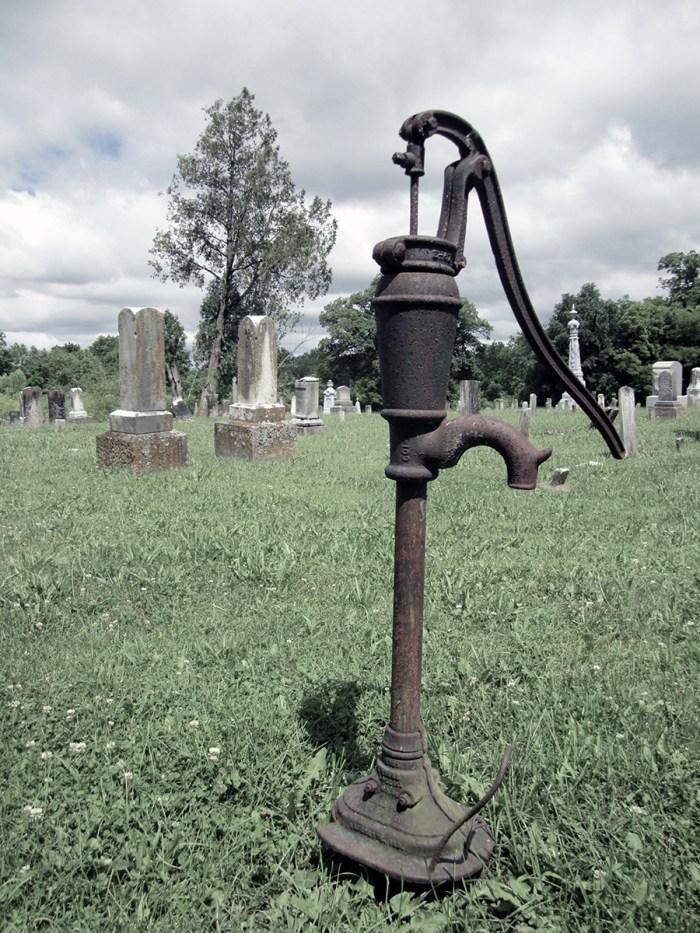 June 23rd:  Old, Rusted Waterpump