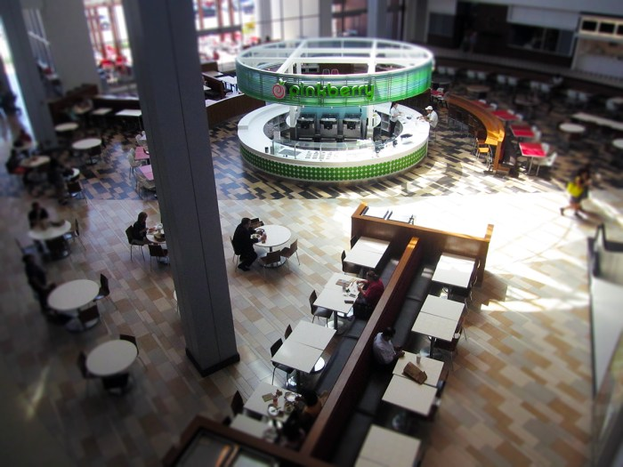 August 15th: Mall Cafeteria